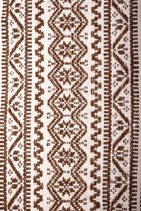 Mexican Purepecha Wool Indigenous Table Runner decorated with Stars and Geometric Pattterns
