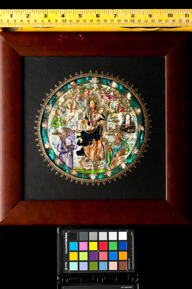 Mother of Pearl Inlay nacre religious Painting
