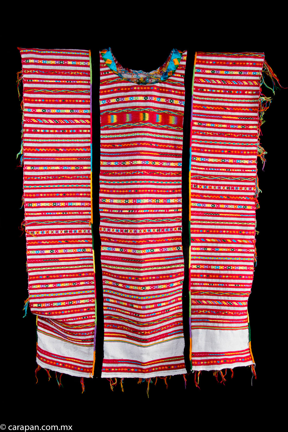 Cotton Huipil from Oaxaca Mexico Traditional Indigenous Textile Art
