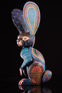 Standing Rabbit Alebrije Oaxacan Wood Carving Zapotec Patterns