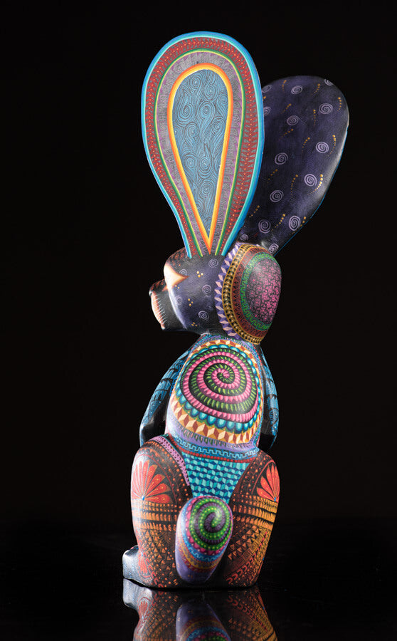 Standing Rabbit Alebrije Oaxacan Wood Carving Back