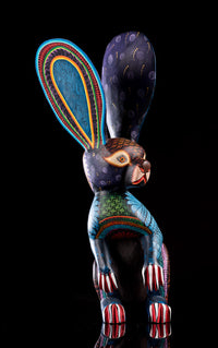 Standing Rabbit Alebrije Oaxacan Wood Carving Right