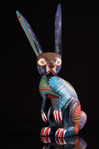 Standing Rabbit Alebrije Oaxacan Wood Carving Front