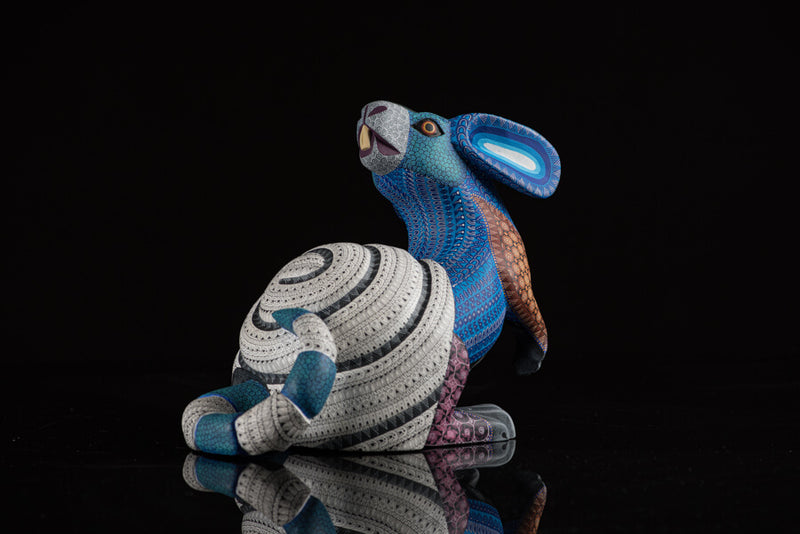Rabbit Snail Alebrije Oaxacan Wood Carving