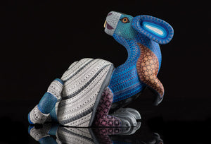 Rabbit Snail Alebrije Oaxacan Wood Carving left