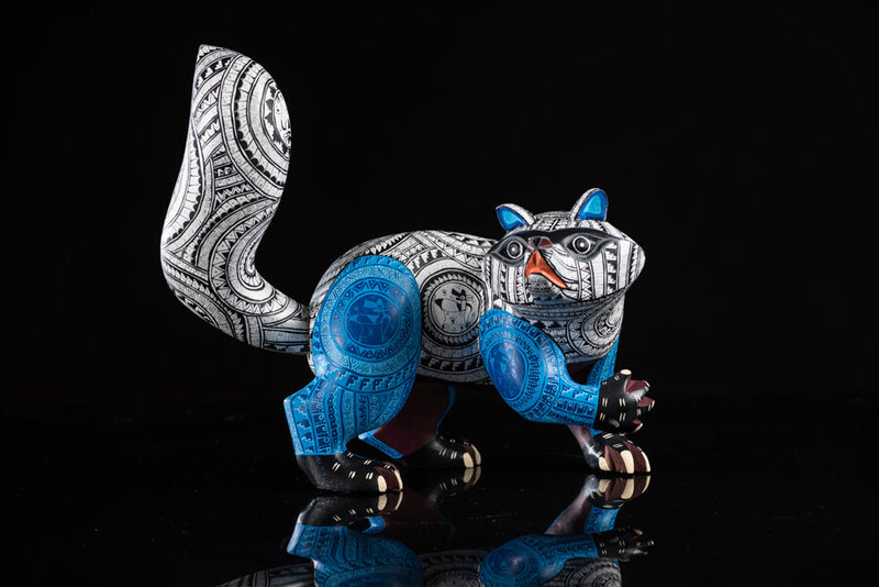 Raccoon Alebrije Oaxacan Wood Carving Front