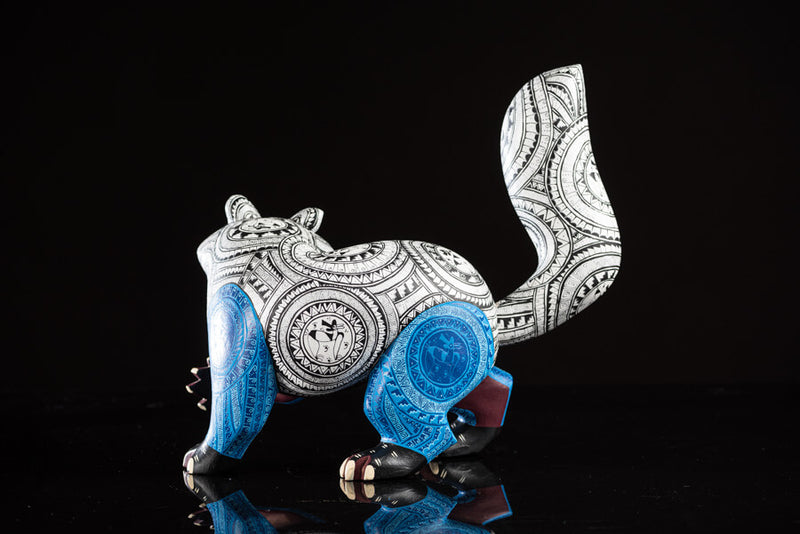 Raccoon Alebrije Oaxacan Wood Carving Back