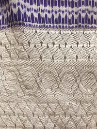 Award Winning Pruple & White Rebozo Mexican Shawl Back strap Loomed Detail