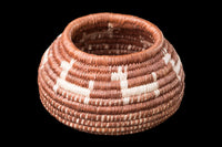 Mexican Basket by Seri indigenous people brown with beige donkeys
