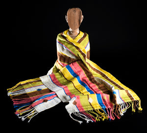 Striped rebozo shawl from Chiapas Mexico