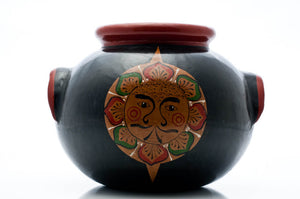 Tonala-Burnished-Clay-Sun-&-Moon-Pot-by-Pottery-Master-Luis-Cortez
