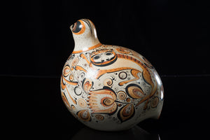 Burnished-Clay-Tonala-Dove-decorated-with-nahuales-&-Flowers-Fine-Mexican-Pottery-art