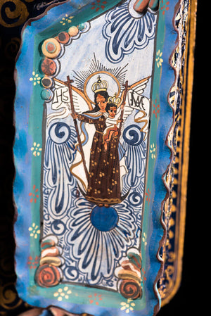 Tonala-clay-retablo-Jesus-descent-cross