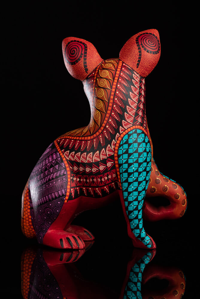 Oaxacan-wood-carving-red-alebrije