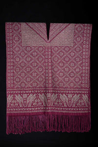 Fine Art Mexican Poncho Overcoat Backstrap Loomed by Indigenous People