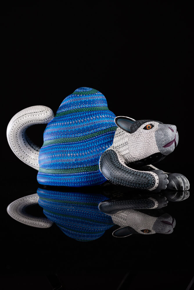 Cat Snail Alebrije Oaxacan Wood Carving Right