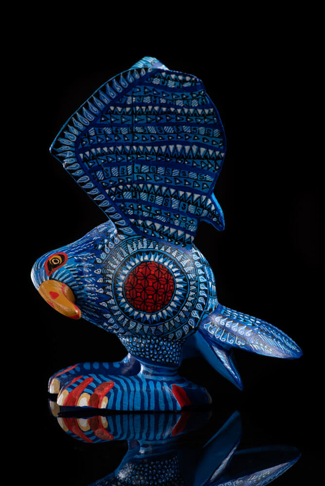 Blue Eagle Alebrije Oaxacan Wood Carving Hand Painted