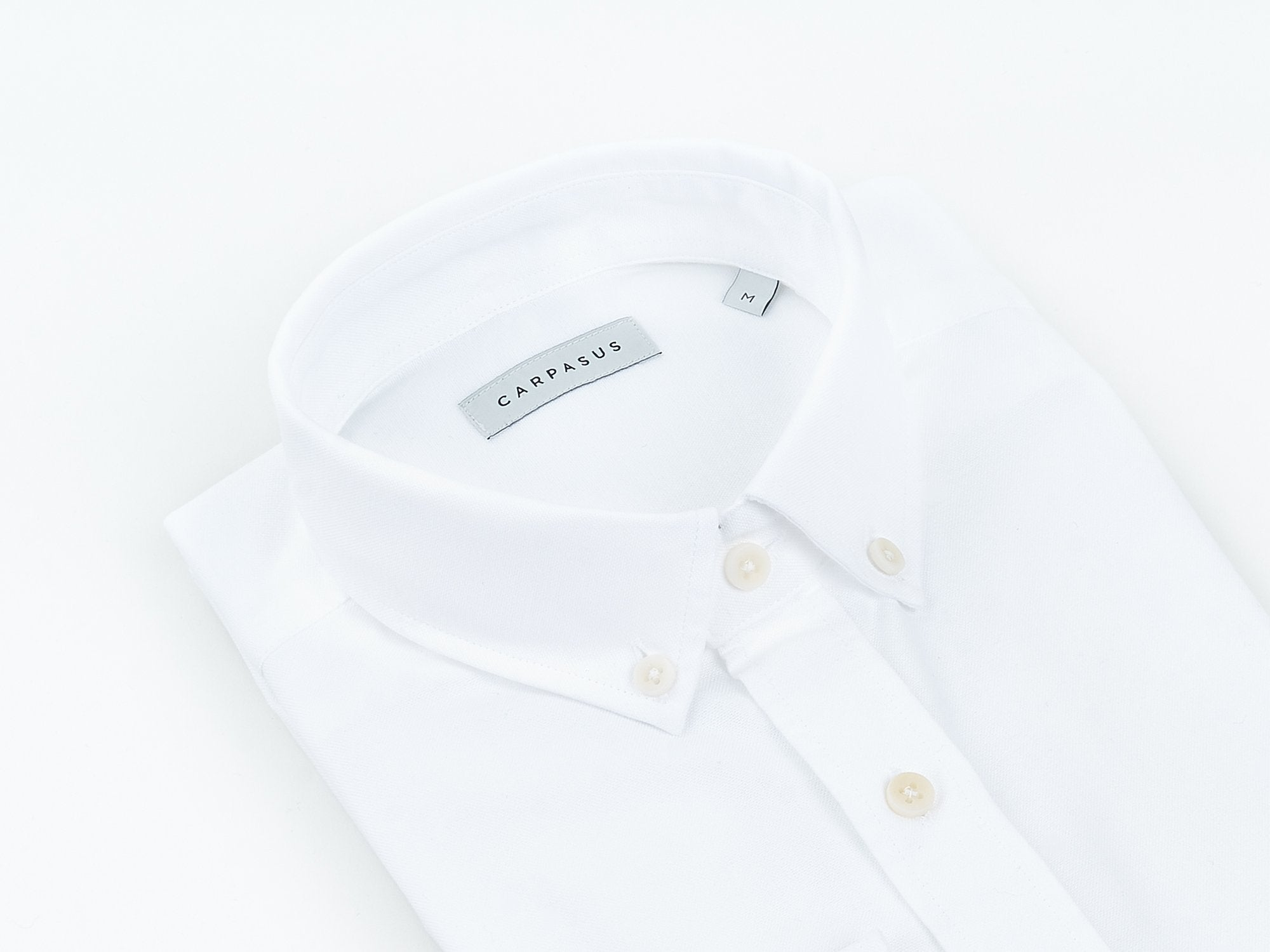 carpasus sustainable organic cotton oxford shirt white. Nachhaltiges Carpasus Oxford Hemd aus Bio Baumwolle in Weiss