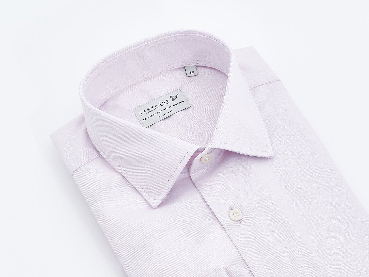 carpasus sustainable organic cotton dress shirt rosé. Nachhaltiges Carpasus Businesshemd aus Bio Baumwolle in Rosé