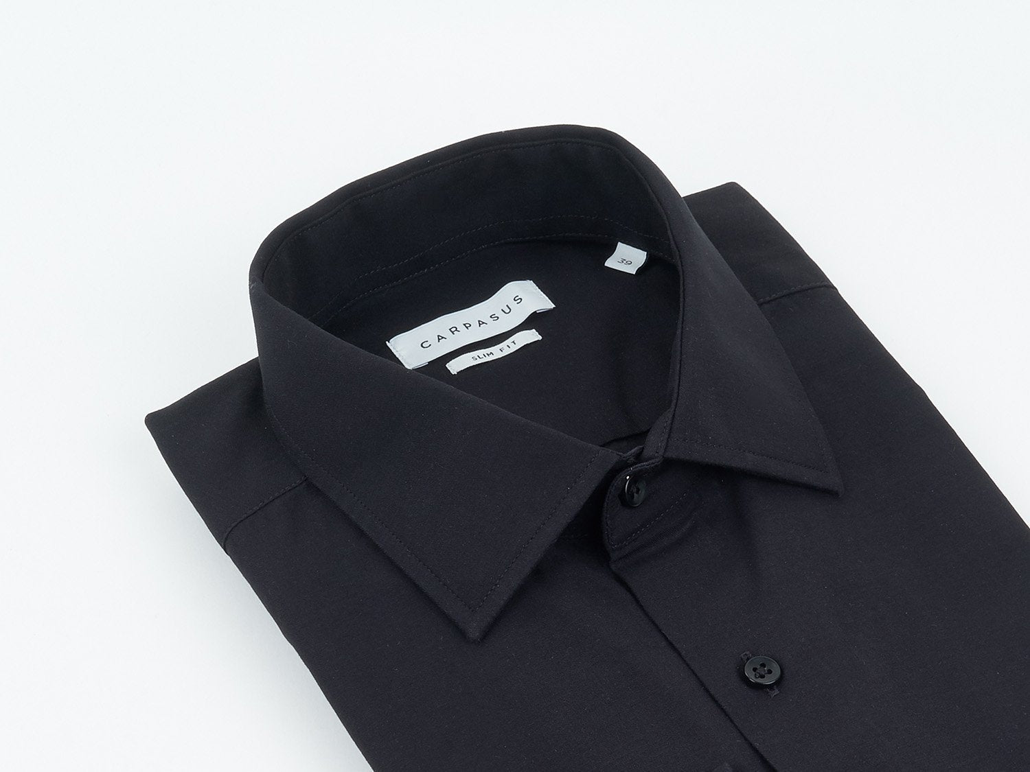 carpasus sustainable organic cotton dress shirt black. Nachhaltiges Carpasus Businesshemd aus Bio Baumwolle in Schwarz