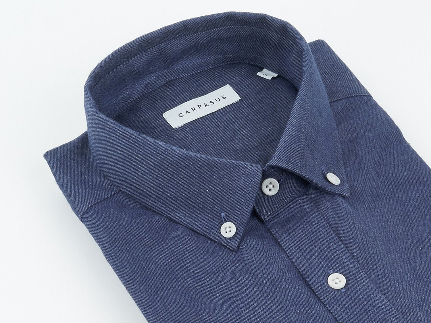 carpasus sustainable organic cotton flanell shirt populus navy. Nachhaltiges Carpasus Flanell Hemd Populus Navy aus Bio Baumwolle
