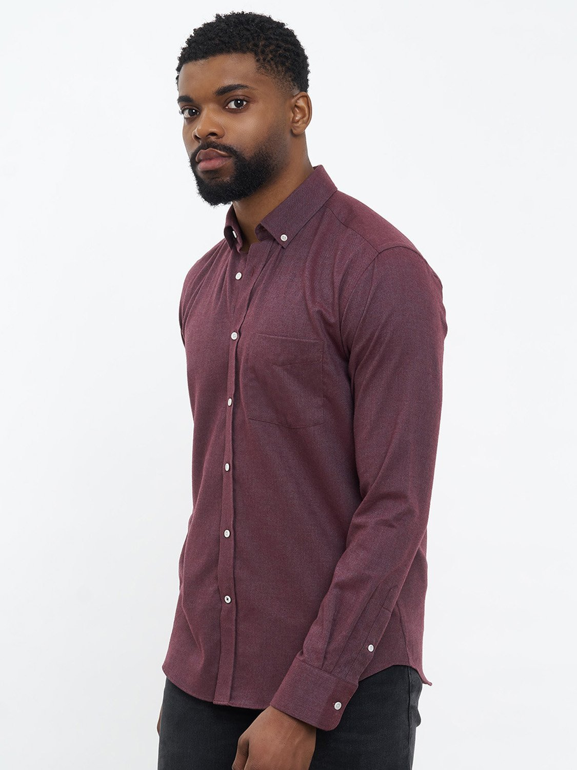 carpasus sustainable organic cotton flanell shirt populus bordeaux. Nachhaltiges Carpasus Flanell Hemd Populus Bordeaux aus Bio Baumwolle