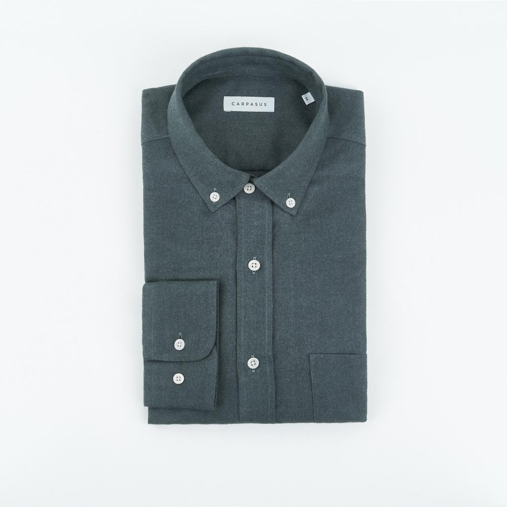 carpasus sustainable organic cotton flanell shirt populus moss. Nachhaltiges Carpasus Flanell Hemd Populus Moos aus Bio Baumwolle