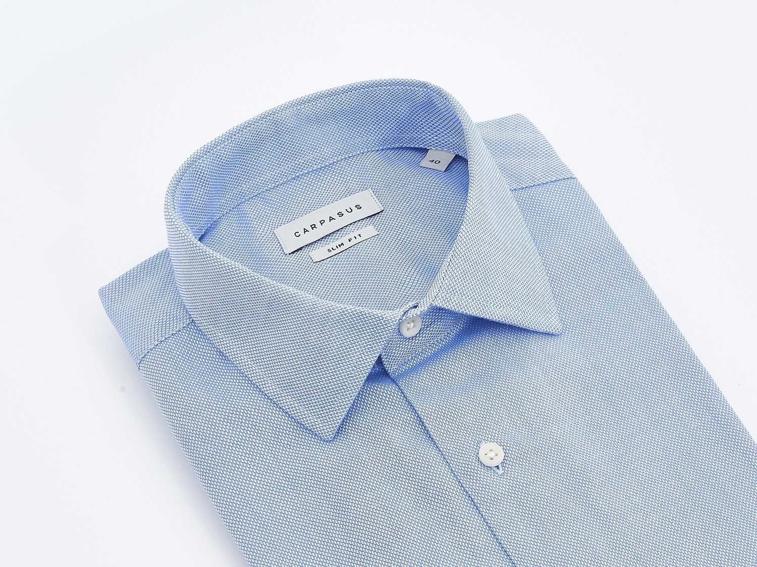 carpasus sustainable organic cotton shirt porto blue. Nachhaltiges Carpasus Hemd aus Bio Baumwolle Porto Blau