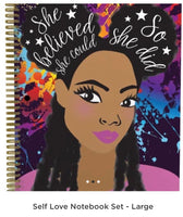 Self Love Notebook Set- 3 large notebooks