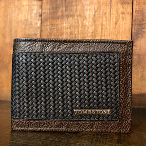 Cartera Tombstone Corta BWC-189-CT/PC CAFÉ TEXTURA - Very Vaquero