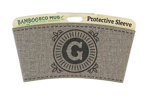 Personalised Bamboo Eco Mug Sleeve - G