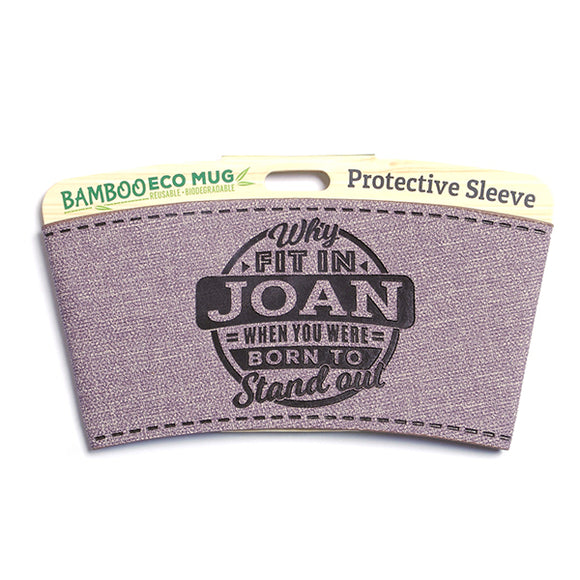 Personalised Bamboo Eco Mug Sleeve - Joan