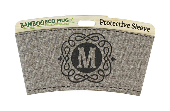 Personalised Bamboo Eco Mug Sleeve