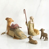 Willow Tree Figurine - Shepherd and Stable Animals