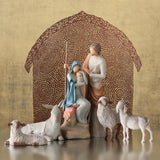 Willow Tree Figurine - Sheltering Animals for The Holy Family ( Small )