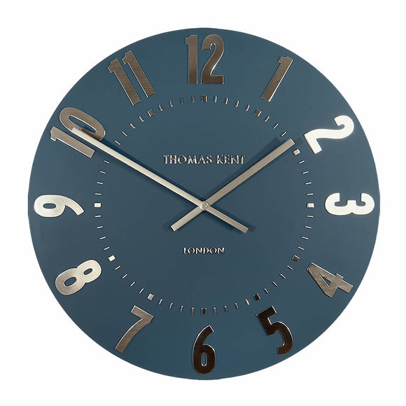 Wall clock in midnight blue- Mulberry range 50 cm