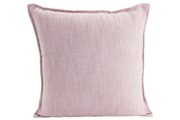 Plain Cushion - Linen Baby Pink 55 x 55