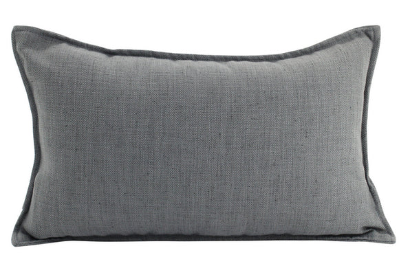 Plain Cushion - Linen Dark Grey 30 x 50