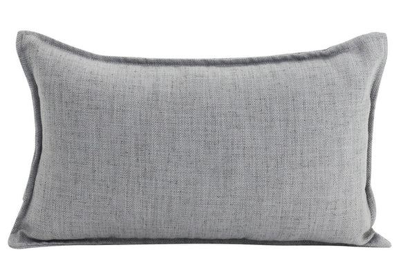 Plain Cushion - Linen Light Grey 30 x 50