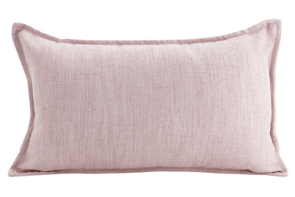 Plain Cushion - Linen Baby Pink 30 x 50
