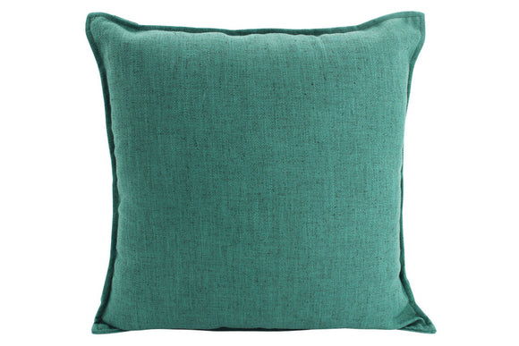 Plain Cushion - Linen  Green 45 x 45