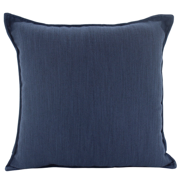 Plain Cushion - Linen  Navy 45 x 45