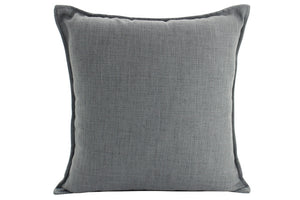 Plain Cushion - Linen Dark Grey  55 x 55