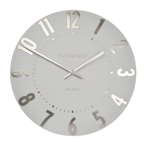 Wall clock in Silver Cloud Mulberry range 50 cm