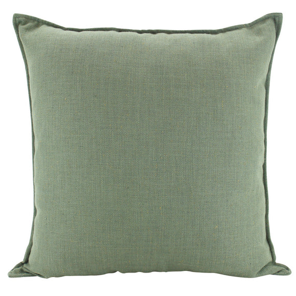 Plain Cushion - Linen Sage  55 x 55