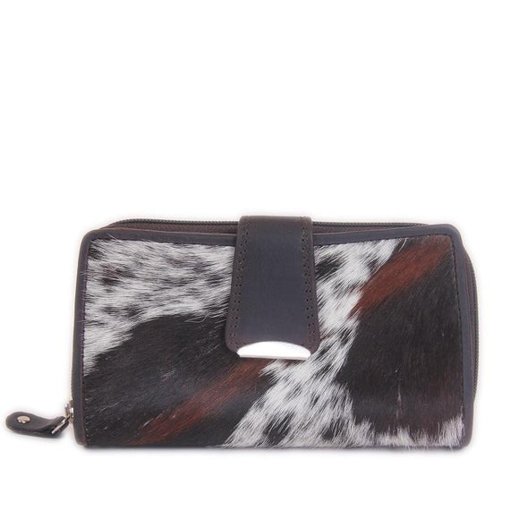 Cenzoni Oil Pull Up Ladies Wallet - ZHLW4493 Brown