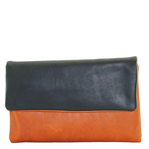 Cenzoni Oil Pull Up Ladies Wallets - ZOPTF01 Orange - Black