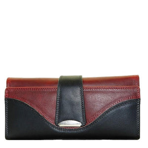Cenzoni Oil Pull Up Ladies Wallet - ZOPX36 Black-Red