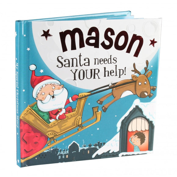 Christmas Storybook - Santa Needs Your Help (Mason)
