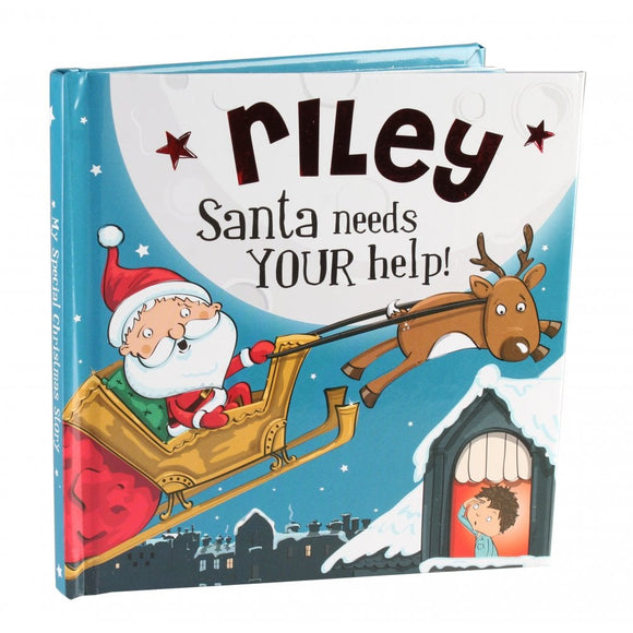 Christmas Storybook - Santa Needs Your Help (Riley)